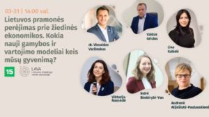 Lietuvos pramonės perėjimas prie žiedinės ekonomikos. Kokie nauji gamybos ir vartojimo modeliai keis mūsų gyvenimą?